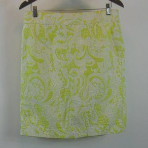 J. Crew Scroll Print Pencil Skirt Size 10